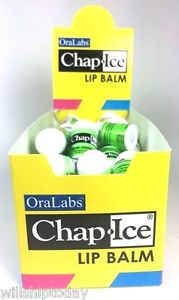 50-Mini-Chap-Ice-Lip-Balm-Kiwi-Lime-New-And-Sealed-Box-by-Ora-Labs