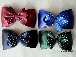Jemlana-039-s-handmade-satin-school-hair-clips-for-girls