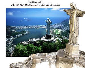 jesus resin statue christ the redeemer and corcovado rio de janeiro