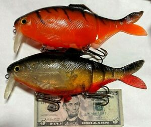 2 impossible to find shad clone swimbaits lures Muskie bass baits Innovation