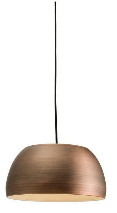 Milo Lighting 1-Light Bowl Pendant, Matt Bronze Effect Plated