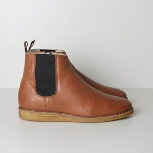 NIB-Wood-Wood-Hank-Chelsea-Boots-with-Crepe-Sole-Brown-RRP-500