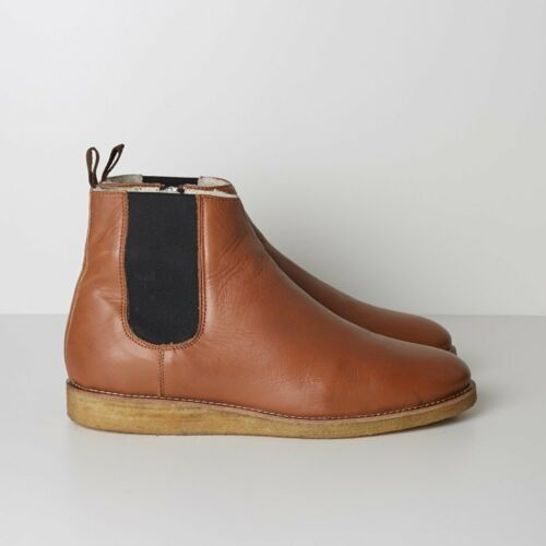 NIB WoodWood Hank Chelsea Boots with Crepe Sole Brown RRP $500