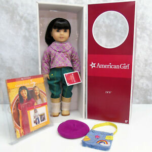 American-Chinese-Girl-Doll-IVY-LING-In-Meet-Outfit-Earrings-Beret-Purse-amp-Book