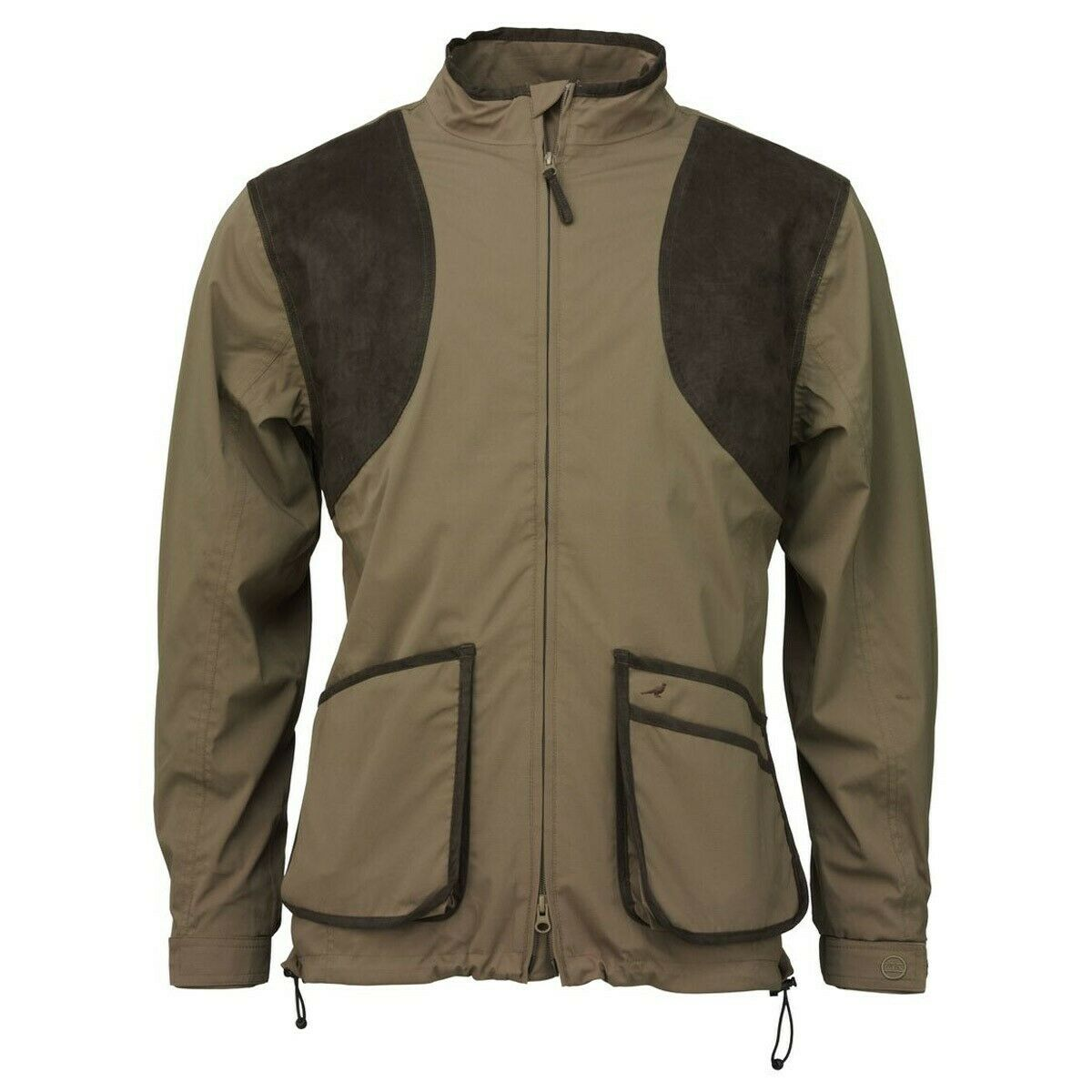 Mens Laksen Clay Shooting Jacket with Mesh Lining in Navy & Grün - All Größes