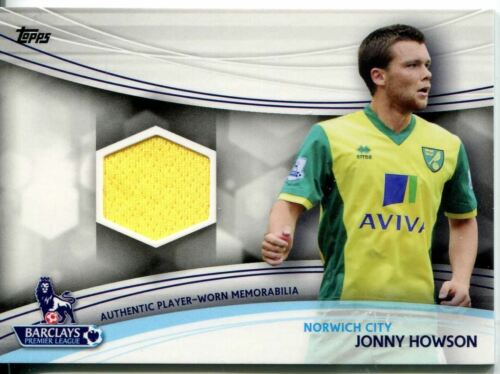 Topps Premier Gold Football 13//14 Relic Card Jonny Howson Yellow