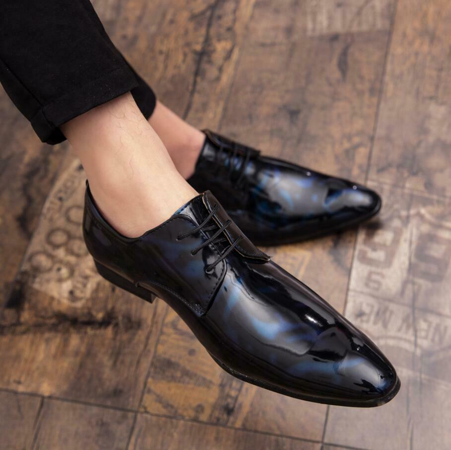 New Mens Leather Business Formal Dress Casual Pointed Toe Wedding shoes Plus SZ
