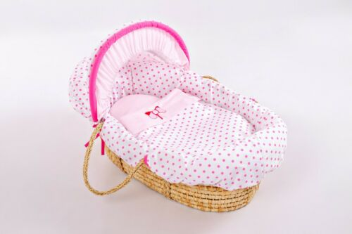 Pink Replacement-Moses-Basket-Covers-Hood-blanket-liner-Sheets