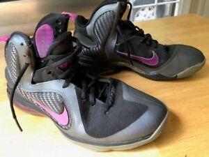 best loved d0a59 8a108 Image is loading Nike-Lebron-9-IX-Cool-Grey-Vivid-Grape-