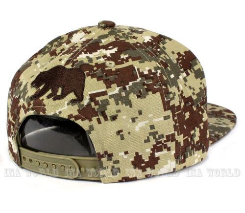 California Republic hat Classic Bear Military Digital camo Snapback Baseball cap