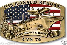 NEW USS Ronald Reagan (CVN-76) Belt Buckle. 61111.