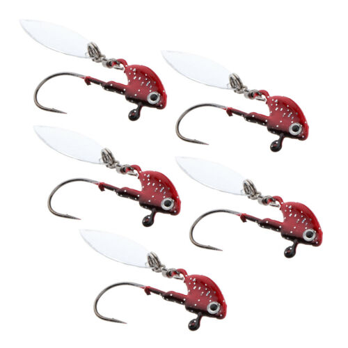 5pcs Jig Lead Fishing Lures Spoon Swimbait Swing Jig Heads for Bass Walleye