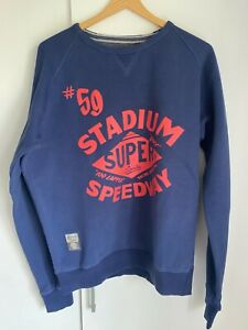 Superdry-Men-s-Stadium-Speedway-Sweatshirt-XXL-Blue
