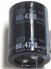 Capacitor 4700UF 80V Electrolytic 4700mfd Temp 105C 1 pc
