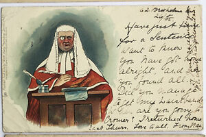 Antique-Raphael-Tuck-Postcard-Just-Time-for-a-Sentence-Series-542
