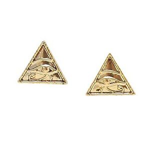 pyramid studs earrings eye of horus pyramid studs one pair earrings set 150