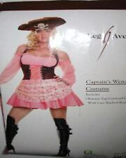 Pink & Brown Pirate Wench Corset Costume Dress Set ML Leg Avenue 83231