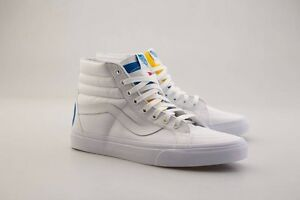 US size Vans Men SK8-Hi Reissue - 1966 white blue red  ccb4b641f