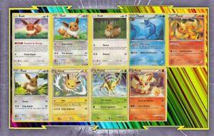 Lot-de-9-cartes-Evoli-Et-Evolutions-differentes-Francaises-Neuves-Pokemon