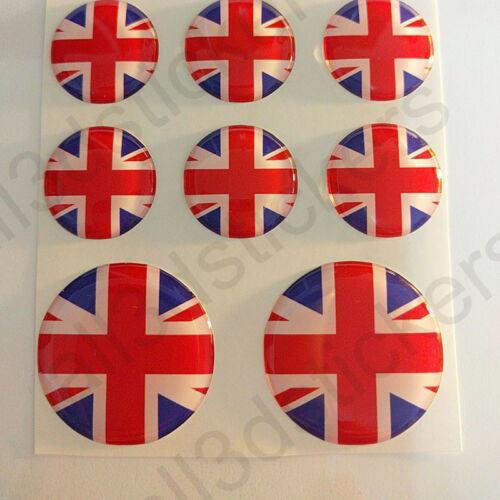 Stickers United Kingdom UK Union Jack Gel Domed Resin 3D Flags Vinyl Sticker