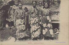 TAHITI FAMILIE DE PECHEURS