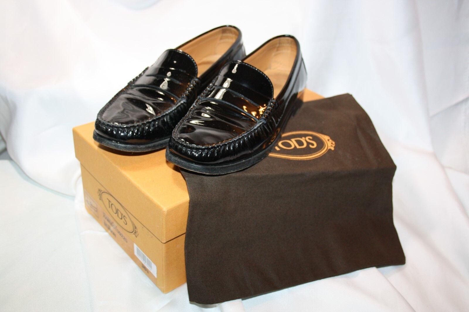 TOD's loafer/Slipper/Mocassini (interno Pelle Verniciata Nero 36 (interno loafer/Slipper/Mocassini 23cm) 72f30e