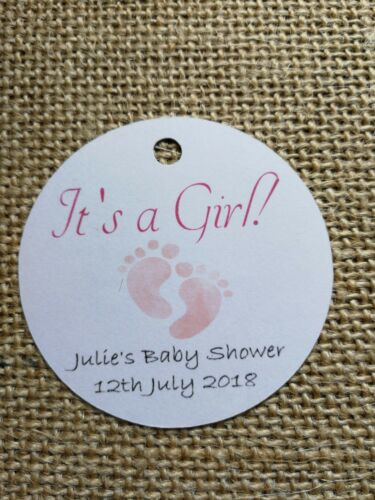 It/'s a Girl It/'s a Boy Personalised Tags Baby Shower Gift Tags Favour Tags 15X