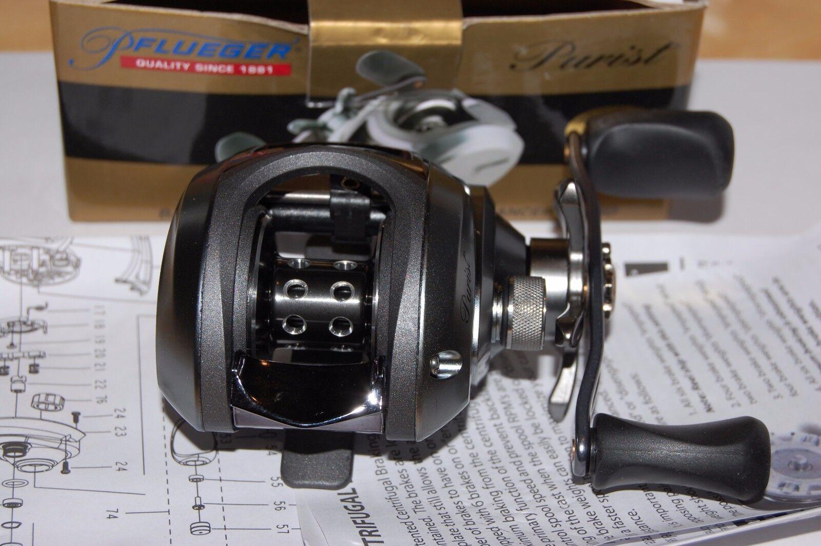 Pflueger Purist Fischen Spule Baitcast Rolle Bait Caster 8 Lager 7.1:1 Waffel Spule Fischen 8336d6