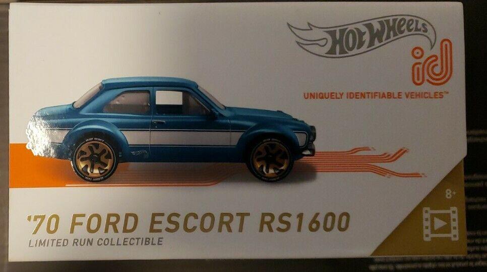BLUE VHTF 2019 Hot Wheels-ID Car Screen Time-#2//5 /'70 FORD ESCORT RS1600
