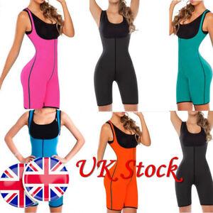 cf8c80b56de UK Womens Shapewear Full Body Sweat Shaper Weight Loss Gym Sport ...