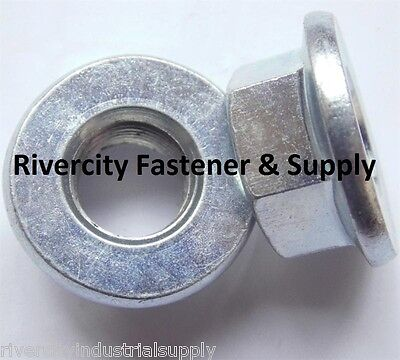 100 M10-1.25 Thread Steel Flange Spin Nut M10x1.25 Flare Nuts 10mm x 1.25