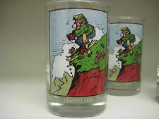 5 - GARY PATTERSON Sports Cartoon Arby's Drink GLASSES First Flake