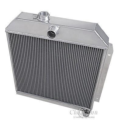 """3-ROW RADIATOR+14/""""FAN+OIL COOLER BLACK FOR 1949-1952 PLYMOUTH//CHRYSLER//DODGE"""