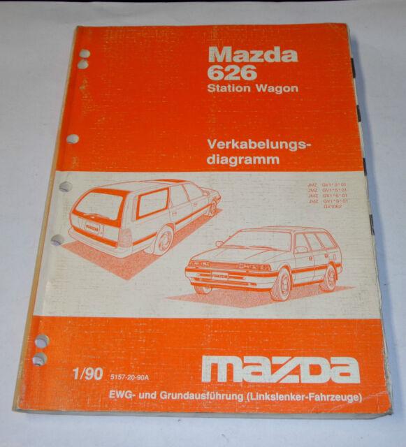 Workshop Manual Mazda 626 Station Wagon Type Gd  Gv