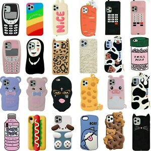Cute 3D Cartoon Silicone Case For iPhone 12 11 Pro Max XR XS 8 7 6 ...