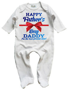 Dirty-Fingers-Happy-Father-039-s-Day-Daddy-best-present-Baby-Sleepsuit