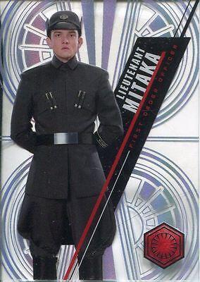 Star Wars 2016 High Tek Pattern 2 Form 2 Base Card SW-105 Lieutenant Mitaka