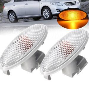 2Pcs-Side-Turn-Signal-Lamp-Fender-Light-For-Toyota-Corolla-Camry-Yaris-RAV4