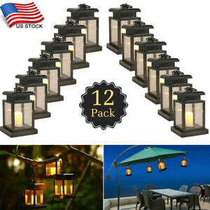 Details About Solar Lamp Led Candle Lantern Patio Umbrella Lights Outdoor Waterproof Decorated