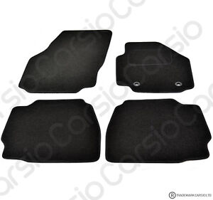 Ford-Mondeo-2007-2013-Tailored-Black-Car-Floor-Mats-Carpets-4-piece-Set-Oval