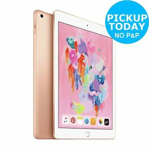 Apple iPad 2018 6th Gen 9.7 Inch LED Retina Display WiFi 32GB - Gold.