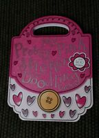 My Pretty Pink Sticker Doodling Purse Coloring Activity Book Carry Handle
