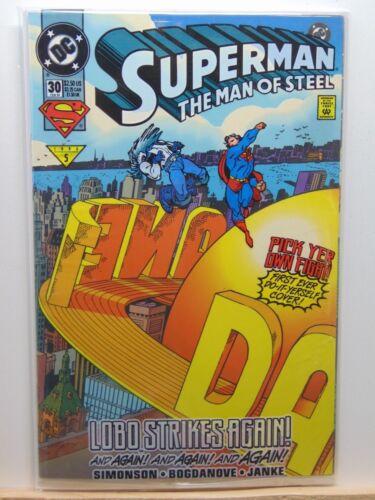 Superman the Man of Steel #30 Bagged Lobo D.C Universe Comics  CB4708