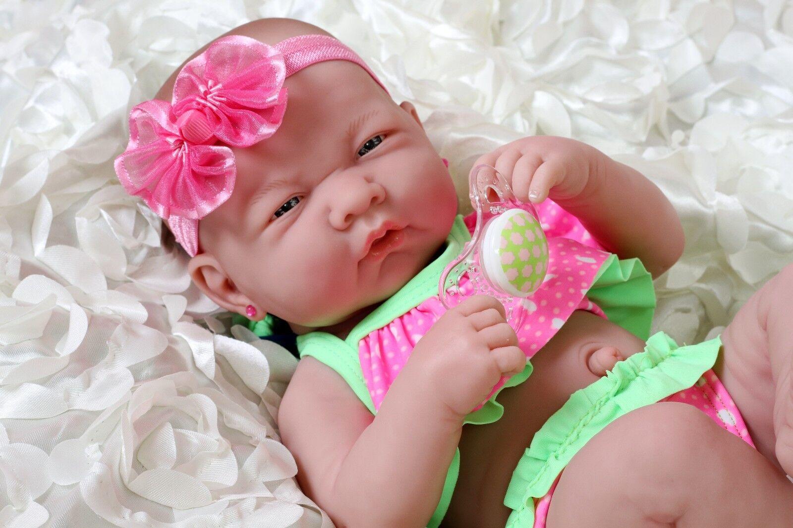Summer Girl Preemie Berenguer Recién nacido bebé muñeca ropa Real Vinilo 14  vida como