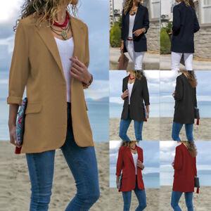 ZANZEA-Women-Long-Sleeve-Turn-Down-Collar-Blazer-Plain-Jacket-Coat-Outwear-Plus