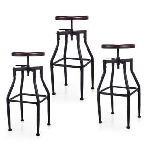Fantastic Details About 1 2 3 Bar Stool Swivel Metal Wood Seat Top Height Adjustable Barstool W Uwap Interior Chair Design Uwaporg
