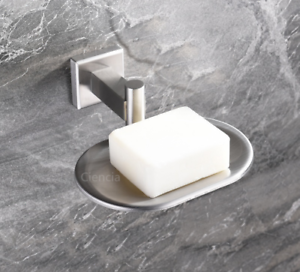 Image Is Loading Modern Brushed Nickel Stainless Steel Bathroom Soap Dish