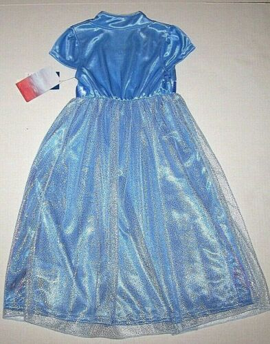 Nwt New Disney Frozen II 2 Princess Elsa Nightgown Pajamas Costume Glitter Girl