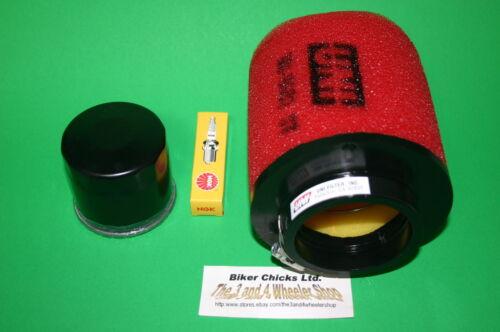 ARCTIC CAT 03-05 500 TRV Air filter Oil Filter /& Spark Plug For Stock Air Box