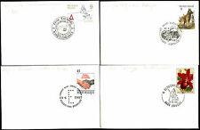 Belgium 1987, 4 Special HAndstamp H/S Covers #C21590